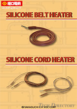 【Heaters for tubular form heating】Silicone Belt Heaters / Silicone Cord Heaters