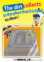 Solutions for dirt accumulation, Mold Maintenance Training Cartoon Series