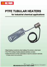 PTFE TUBULAR HEATERS