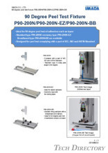 "90° peel testing table ""P90-200N Series"""