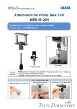 "Probe tack test attachment ""MED-IS-20N"""