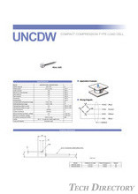 Compact Low-profile Load Cell UNCDW φ7 200N/500N