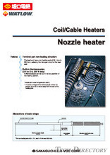 【Heaters for injection molding】Pre-Coiled Cable Heaters for Nozzles