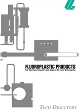 Fluoroplastic Products for Semiconductor and Liquid Crystal Industries Catalog