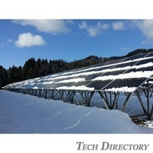 "Ideal for soft ground.  ""Solar Foundation"", foundation construction method for solar power generation."